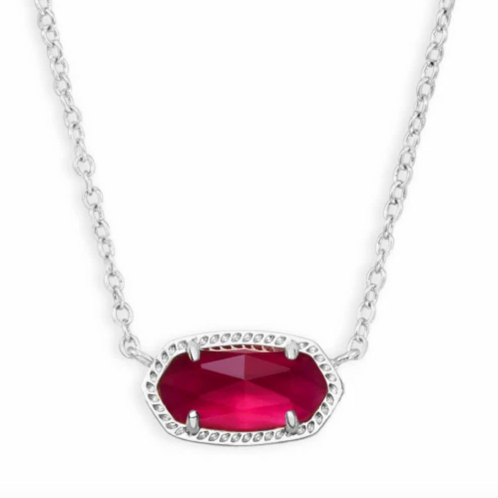 Kendra Scott: Elisa Silver Pendant Necklace in Berry Illusion