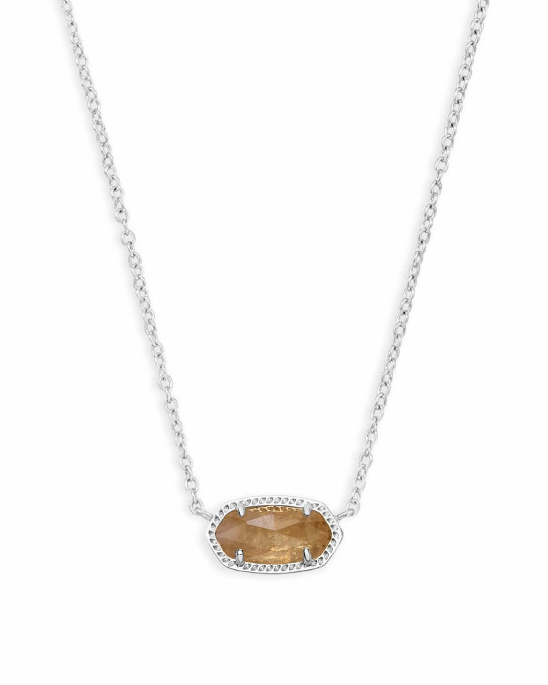 Kendra Scott: Elisa Silver Pendant Necklace in Orange Citrine