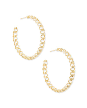 Kendra Scott: Fallyn Hoop Earrings In Gold