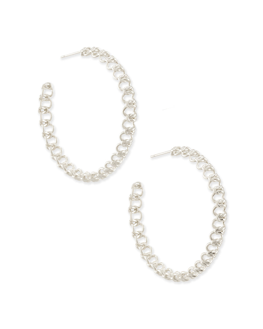 Kendra Scott: Fallyn Hoop Earrings In Silver