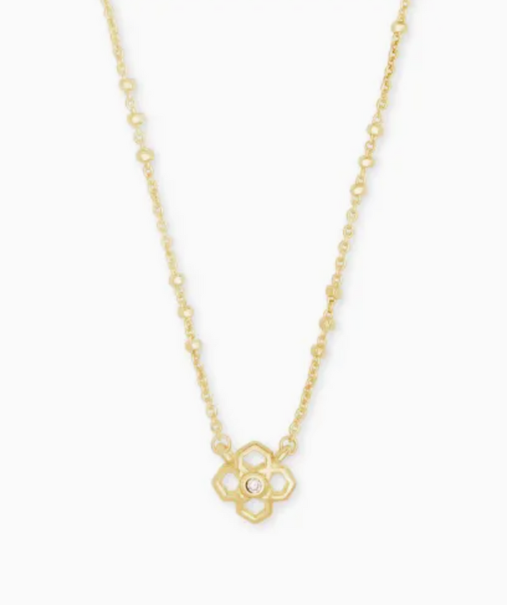 Kendra Scott: Rue Pendant Necklace In Gold