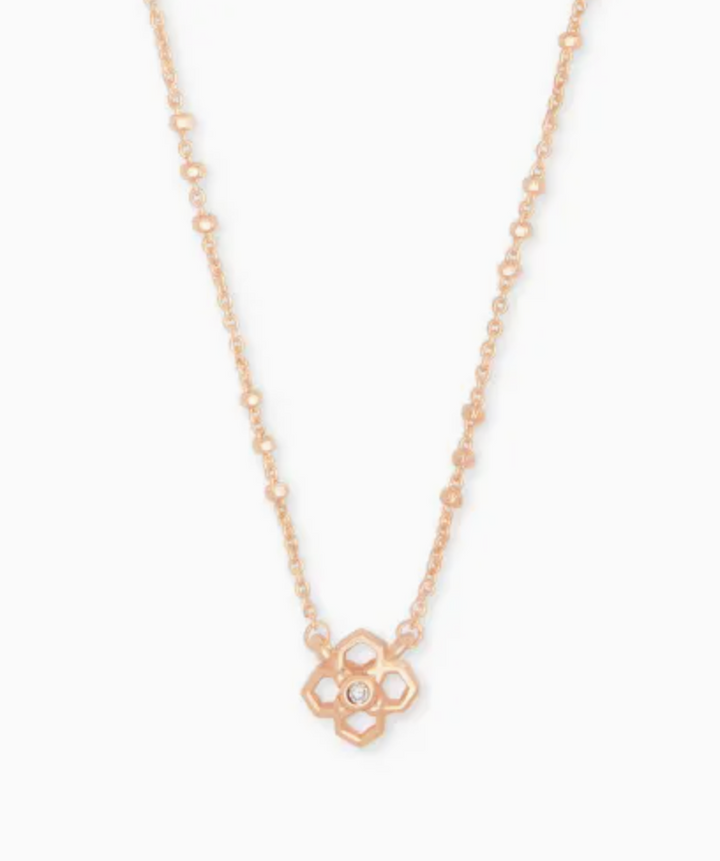 Kendra Scott: Rue Pendant Necklace In Rose Gold