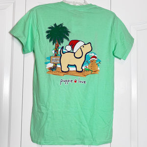 Puppie Love: Tropical Christmas Pup Tee