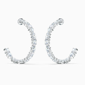 Swarovski: Tennis Deluxe Mixed Hoop Pierced Earrings