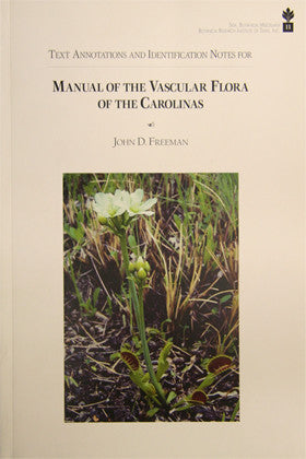 Text Annotations and Identification Notes for Manual of the Vascular Flora of the Carolinas