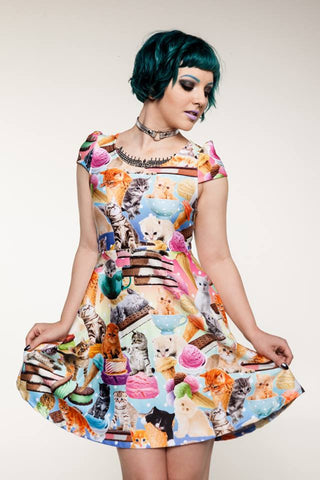 Kittens & Ice Cream Dress by Japan LA