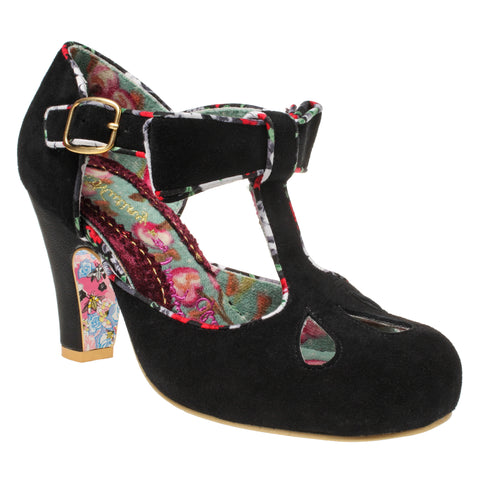 Black Kissing Kate Mary Janes from Irregular Choice