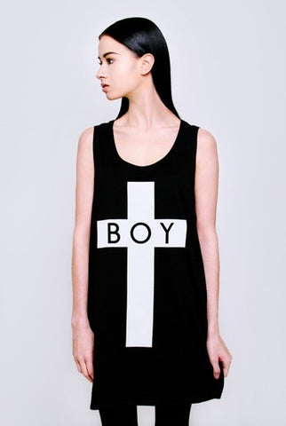 Long Clothing x Boy London Black and White Boy Cross Vest