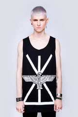 Long Clothing x Boy London Union Vest in Black & White