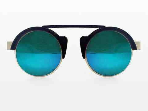 Off World Sunglasses with Green Mirror
