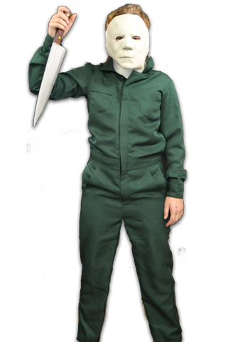 HALLOWEEN II: Michael Myers Child's Deluxe Coveralls With Mask