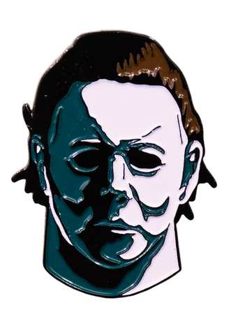 Michael Myers shaped enamel pin