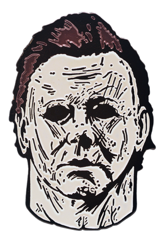 Michael Myers pin from Halloween 2018