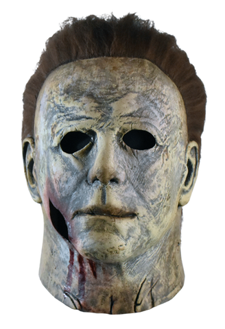Michael Myers mask bloody edition from Halloween 2018 front view