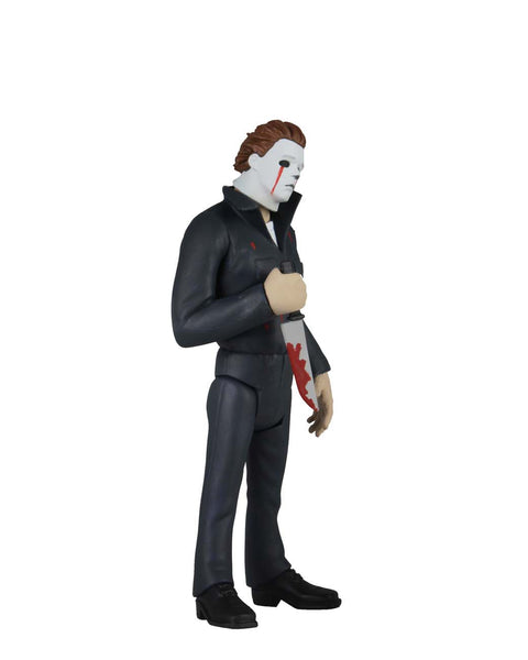This is NECA Toony Terror Series 5 Halloween 2 Michael Myers and he has blood tears and is holding a bloody knife.  Edit alt text