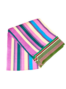 ZENU CULTURE HAND LOOMED 5 X 7 COTTON THROW BLANKET
