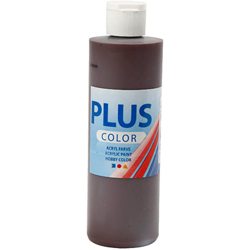 Plus Color Bastelfarbe, Schokolade, 250 ml/ 1 Fl.