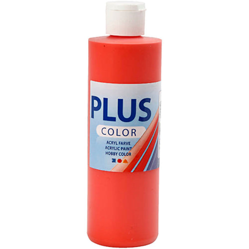 Plus Color Bastelfarbe, Brillantrot, 250 ml/ 1 Fl.