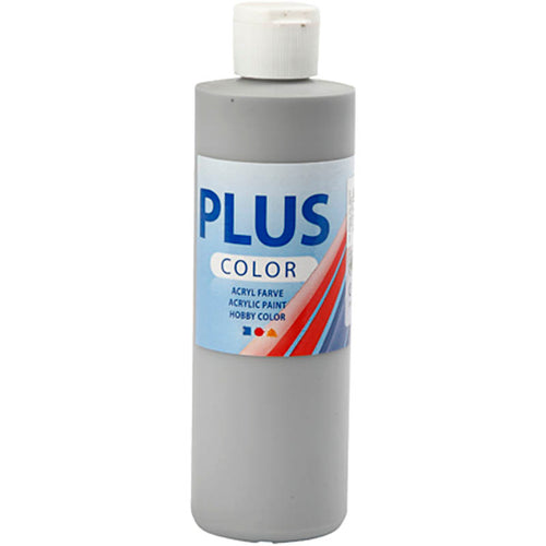 Plus Color Bastelfarbe, Regengrau, 250 ml/ 1 Fl.