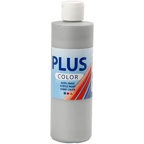 Plus Color Bastelfarbe, Silber, 250 ml/ 1 Fl.