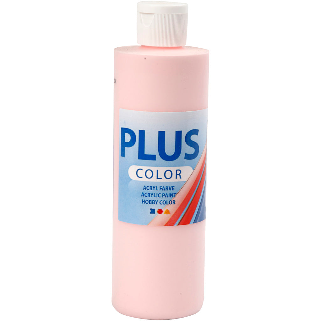 Plus Color Bastelfarbe, Softpink, 250 ml/ 1 Fl.