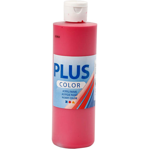 Plus Color Bastelfarbe, Primärrot, 250 ml/ 1 Fl.
