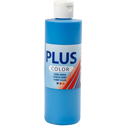 Plus Color Bastelfarbe, Primärblau, 250 ml/ 1 Fl.