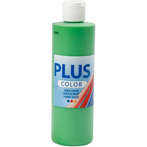 Plus Color Bastelfarbe, Hellgrün, 250 ml/ 1 Fl.