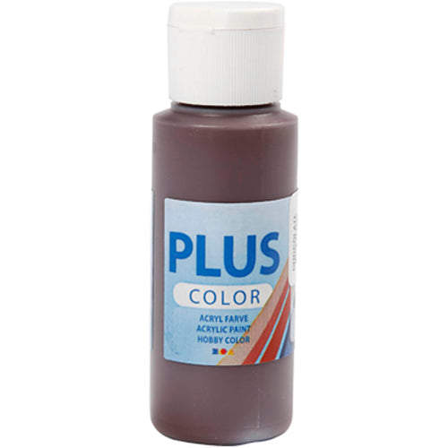 Plus Color Bastelfarbe, Schokolade, 60 ml/ 1 Fl.