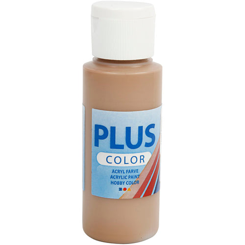 Plus Color Bastelfarbe, Hellbraun, 60 ml/ 1 Fl.