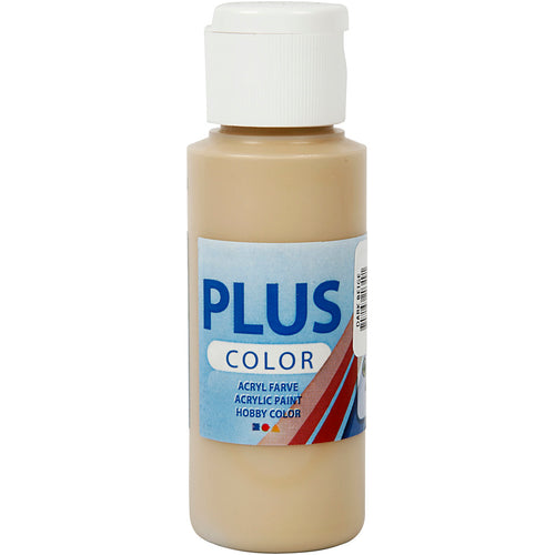 Plus Color Bastelfarbe, Dunkelbeige, 60 ml/ 1 Fl.