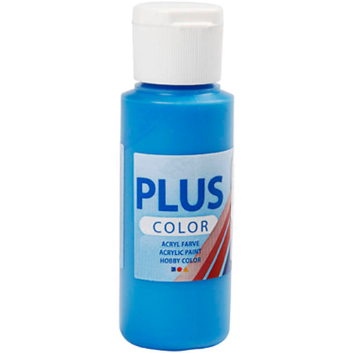 Plus Color Bastelfarbe, Primärblau, 60 ml/ 1 Fl.