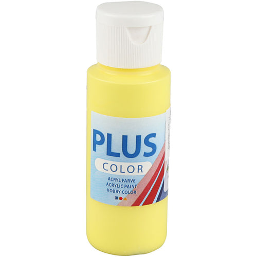 Plus Color Bastelfarbe, Primärgelb, 60 ml/ 1 Fl.