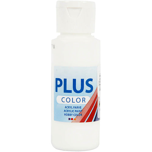 Plus Color Bastelfarbe, Weiß, 60 ml/ 1 Fl.