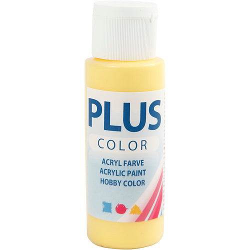 Plus Color Bastelfarbe, Primelgelb, 60 ml/ 1 Fl.
