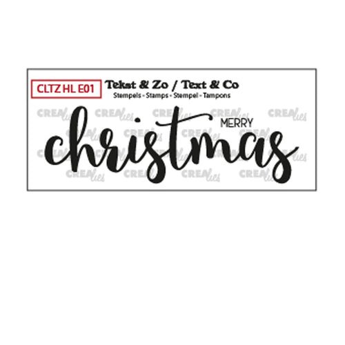 Clear Stamp von Crealies (Text & So Handlettering Merry Christmas)