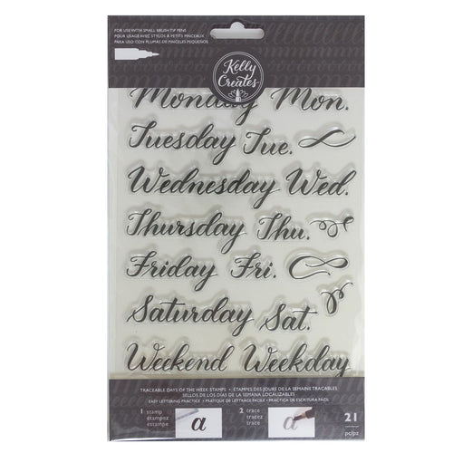 Clear Stamps von Kelly Creates (Days/Week)