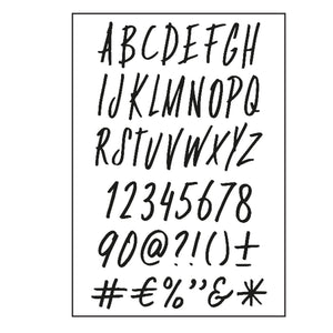 Clear Stamps von Paperfuel (Alphabet Funky)