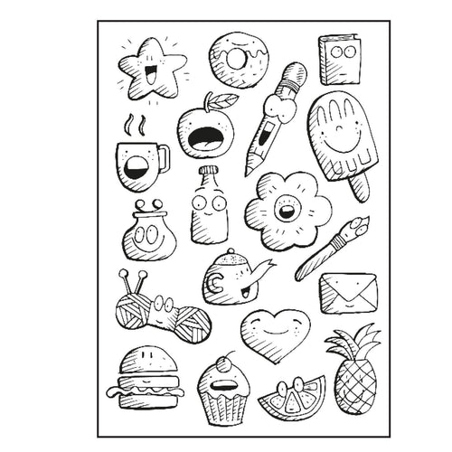 Clear Stamps von Paperfuel (Doodles)