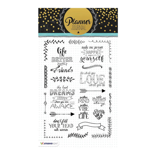 Clear Stamps von Studio Light (Planner Journal Nr.03)
