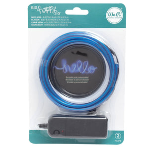 blau leuchtender Neon Draht von We R Memory Keepers (Happy JIG Neon Wire)