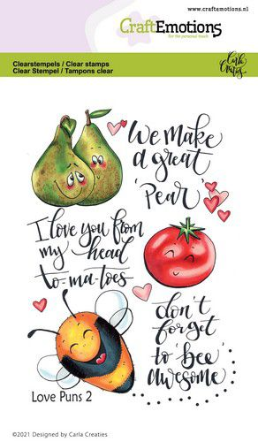 Clear Stamps von CraftEmotions (Love Puns 2 Carla Creaties)