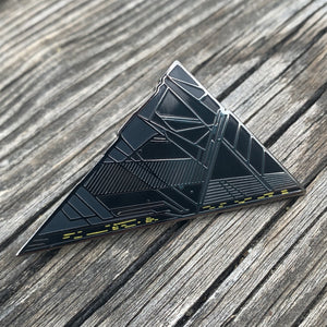 Triangle Ship Enamel Pin