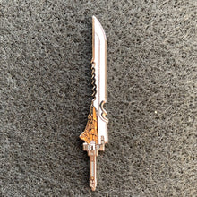 Load image into Gallery viewer, Orange Crystal Sword Pin
