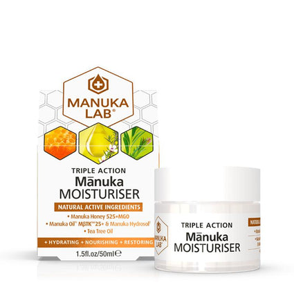 Triple Action Moisturiser - Manuka Lab New Zealand