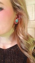 Load image into Gallery viewer, Natural Turquoise Drop Post Earrings