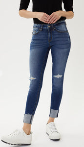 Kan Can - Distressed Skinny Jeans