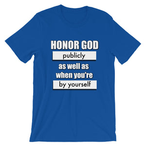 HONOR GOD UNISEX T-SHIRT