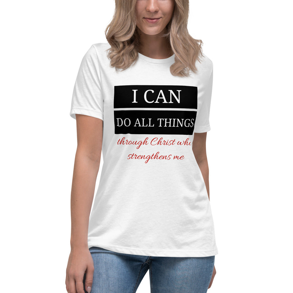 I CAN DO ALL THINGS WOMEN'S T-SHIRT