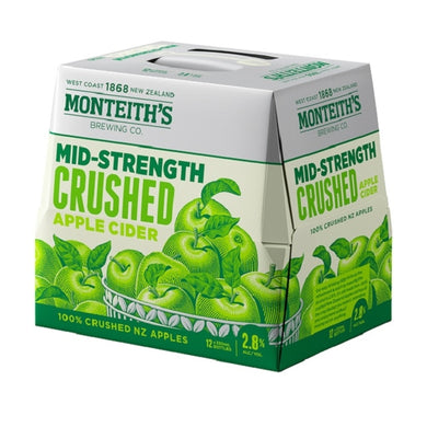 Monteith's Light Cider 2.8% 12 pack